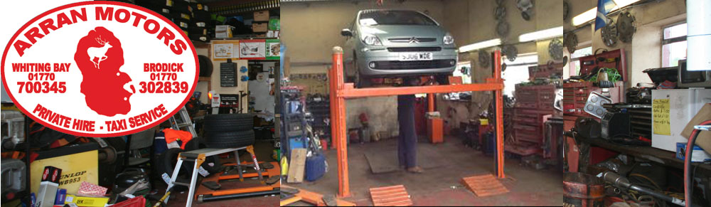 garage services on the Isle of Arran